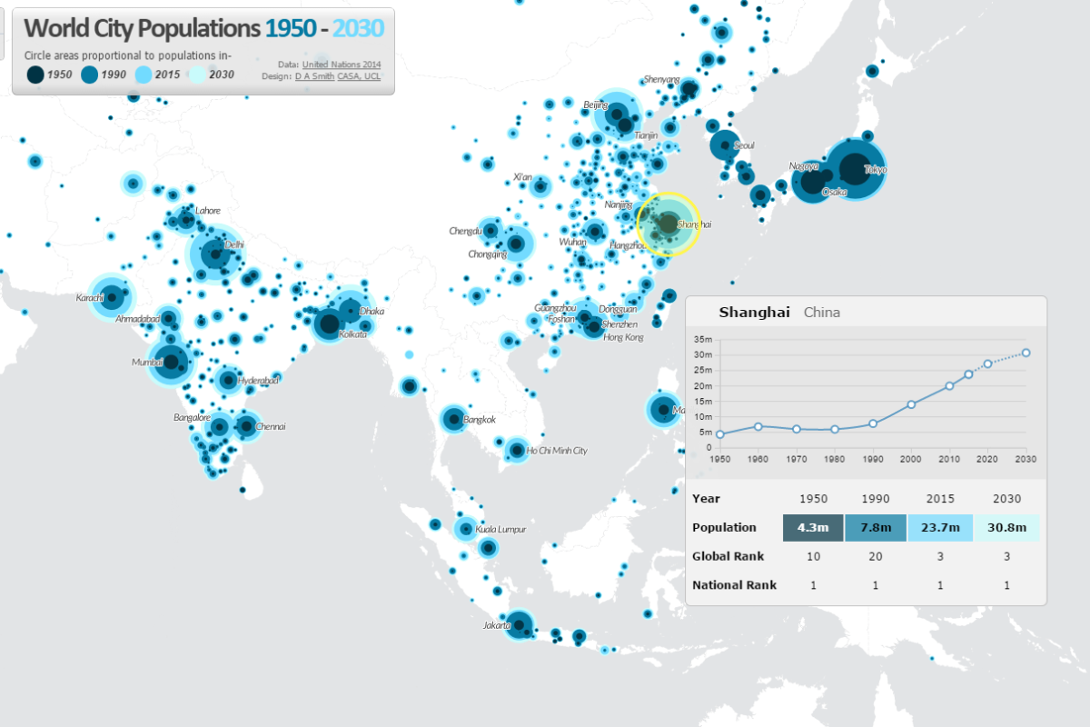 Mapping The Global Urban Transformation CityGeographics Urban - Interactive global map