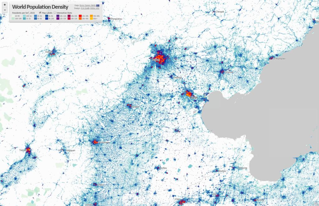 World Population Density Interactive Map CityGeographics Urban - World density map