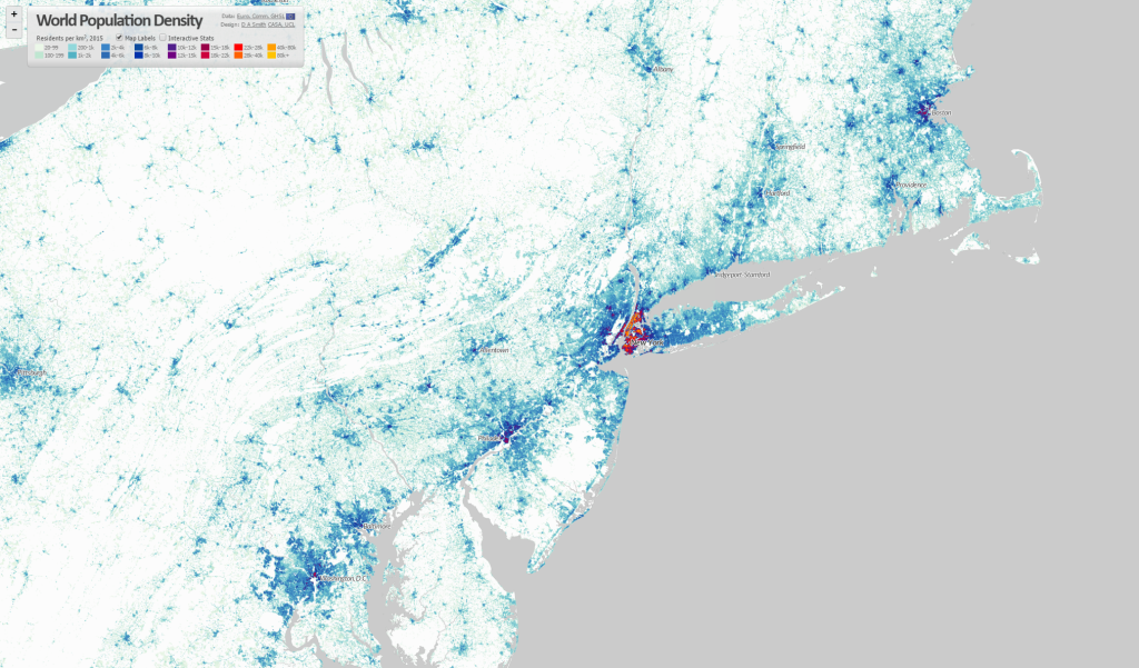 World Population Density Interactive Map CityGeographics Urban - Time change map usa