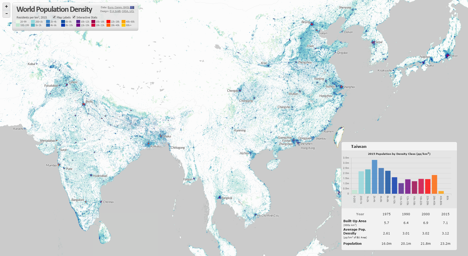 World Population Density Interactive Map CityGeographics urban